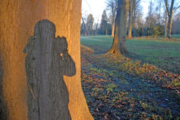 Egham: self silhouette, taking picture